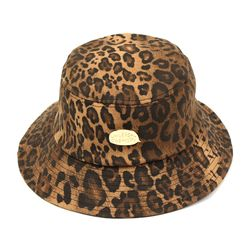 Gold Metal Leopard Bucket Hat 호피버킷햇