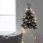 [1300K 단독구성] 판다스틱 크리스마스 트리 패브릭 포스터 중형 + 전구set