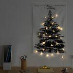 [1300K 단독구성] 판다스틱 크리스마스 트리 패브릭 포스터 대형 + 전구set