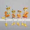 (kcrz005) 러브 고양이 장식인형 4p (오렌지)