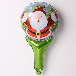 [~12/31까지] 크리스마스 손잡이 은박풍선 (허그산타)