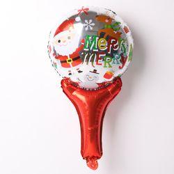 [~12/31까지] 크리스마스 손잡이 은박풍선 (메리산타)