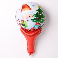 [~12/31까지] 크리스마스 손잡이 은박풍선 (큐티산타)