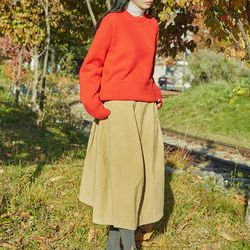 peter corduroy flare skirt (s m)
