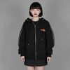[기모M]NAISHO CIRCLE LOGO ZIP UP HOOD(BLACK)