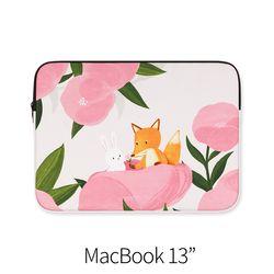 분홍꽃사이 (노트북 13인치 파우치)