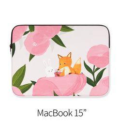 분홍꽃사이 (노트북 15인치 파우치)