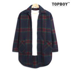 [탑보이] 미소 체크 오버핏 셔츠 코트 (RW317)