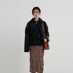 soft fur collar jacket (3colors)
