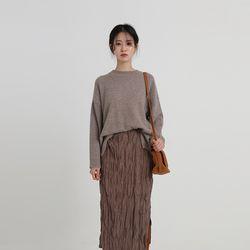 angora unbal round knit (7colors)