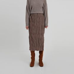 creese banding slit skirt (2colors)