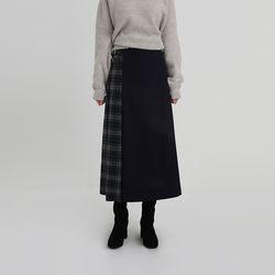 check block long skirt (2colors)
