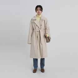 soft fur trench coat (2colors)