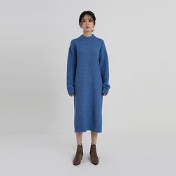 semi half neck knit one-piece (5colors)