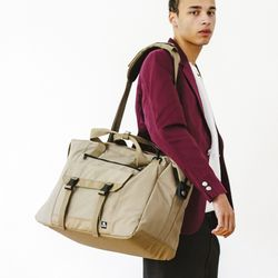 WASHED CORDURA 38L TRAVEL BAG - BEIGE