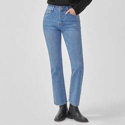 select straight denim pants (s m)