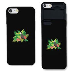 [갤럭시] toucan flower 블랙 슬라이더 케이스