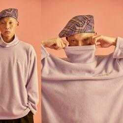 NEONDUST. Turtle Neck T-Shirt (Purple)