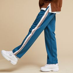 기모 SIDE LINE TRACK PANTS TOPAZ