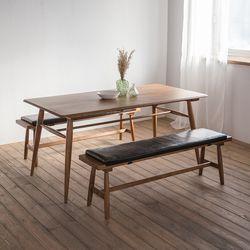 렌토 원목 테이블 1600 세트(벤치2)