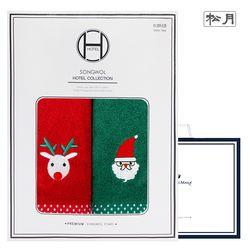크리스마스 프렌즈 2매 선물세트(쇼핑백) 기념수건 답례품