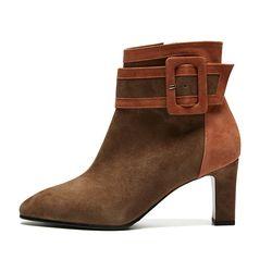 Line Point Boots Orange brown