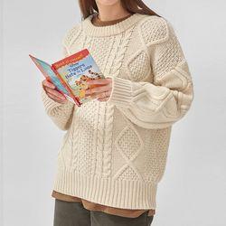 pastel fisherman knit