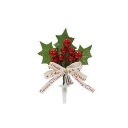 크리스마스케익장식 빨간열매은종 50개묶음