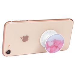 Pink Heart(Epoxy) 핸드폰 그립 스마트 톡 휴대폰 거치대 미러톡
