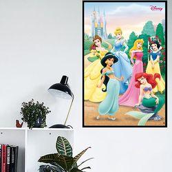 디즈니 프린세스포즈 포스터액자 프레임 미포함