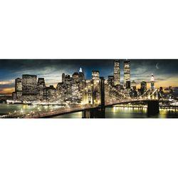 NEW YORK Manhattan Night and Moon 프레임 미포함