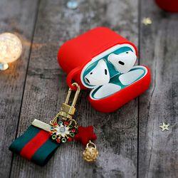 에어팟 철가루 방지 스티커 크리스마스 세트 B-레드