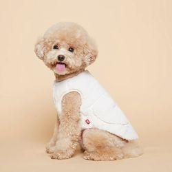 강아지옷 플러피후리스 조끼 -아이보리