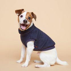 강아지옷 플러피후리스 목폴라 -네이비