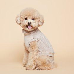 강아지옷 플러피후리스 목폴라 -베이지