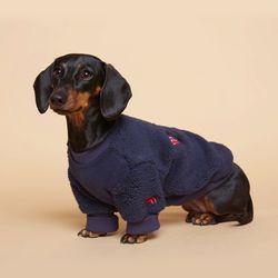 강아지옷 플러피후리스 맨투맨 -네이비