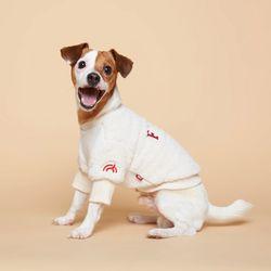 강아지옷 플러피후리스 맨투맨 -아이보리