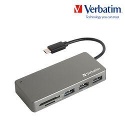 버바팀 카드리더기 USB 3.1 Type-C + OTG 그레이