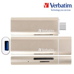허브 카드리더 USB 3.0 + Type-C OTG 골드