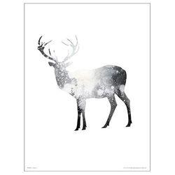 Deer Snow Tree 포스터액자 프레임 미포함