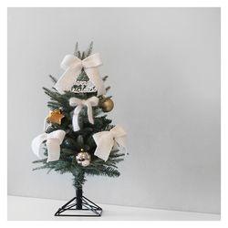 화이트 크리스마스 그린 디자인트리SET(60cm)+눈꽃전구건전지용