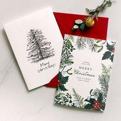 디비디 크리스마스 카드 - Botanic