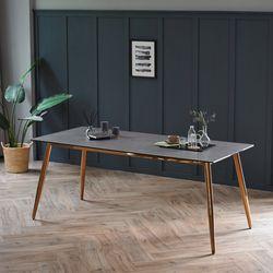 릴리 그레이 이태리 세라믹 6인용 식탁 테이블 1800