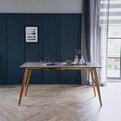 릴리 그레이 이태리 세라믹 4인용 식탁 테이블 1400