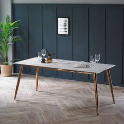 릴리 화이트 이태리 세라믹 6인용 식탁 테이블 1800