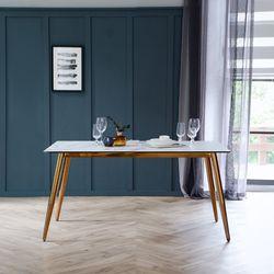 릴리 화이트 이태리 세라믹 4인용 식탁 테이블 1400