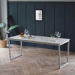 루나 화이트 이태리 세라믹 6인용 식탁 테이블 1800