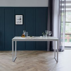 루나 화이트 이태리 세라믹 4인용 식탁 테이블 1400