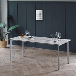 리암 화이트 이태리 세라믹 6인용 식탁 테이블 1800