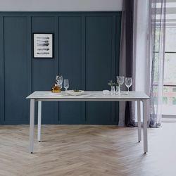 리암 화이트 이태리 세라믹 4인용 식탁 테이블 1400